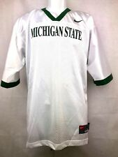 Michigan State Spartans Football Blank Replica Jersey White with Green