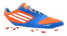 Adidas F30 Trx Fg Men's Blue Orange Lace Up 11 Stud Moulded Football Boots New