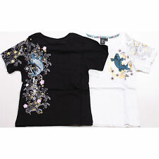 K65 Kids Baby Cute Royal Flower Fish Boy&Girl Lucky Koi Carp Hot Tattoo T-Shirts