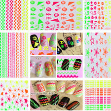 3D Colorful DIY Nail Art Tips Stickers Decal Wraps Acrylic Manicure Decoration J
