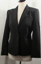 NWT Calvin Klein Black notched lapel 1 button stretch jacket blazer 8P MP