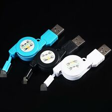 Retractable USB to 8 Pin Data Sync Charger Cable Cord for iPhone 5 iPod Touch 5