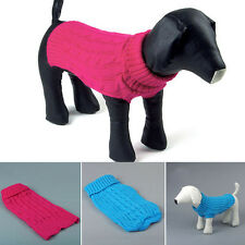 Dog Sweater Cat Pet Puppy Clothes Coat,Solid Color Knit,Soft Cozy,Small to Large