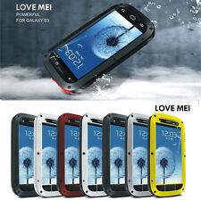Waterproof Shockproof Aluminum Gorilla Metal Cover Case for Galaxy S3 Love Mei