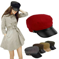 Military Leather Brim Sailor Navy Style Caps Hats For Both Winter and Summer