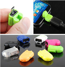 New Robot Micro USB To USB 2.0 OTG Adapter Converter For Android Phone Tablet JP