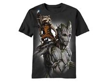 GUARDIANS OF THE GALAXY FULLYLOAD GROOT ROCKET RACCOON MARVEL T SHIRT S-2XL