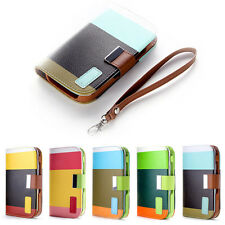 Hybrid Leather Flip Wallet Case Cover for Samsung Galaxy Grand DUOS i9082 i9080