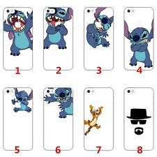 New Cartoon Cute Stitch Eat Apple Pattern Case Cover For Apple iPhone