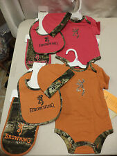 NEW- Browning Mossyoak Camo 4 Pc Baby Outfit Sets