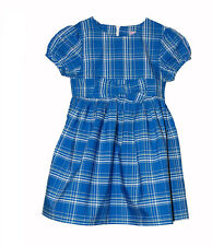 BN Girls Blue Check Cotton Dress  - 4 Years Old