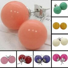 Hot Sale Vogue Girls Women Candy Color Round Balls Earrings Ear Studs Brand New