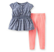 Carters Newborn 3 6 9 12 18 24 Months Top & Legging Set Baby Girl Outfit Clothes