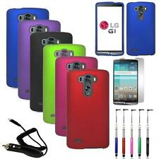 Phone Case For LG G3 Hard Cover + Car Charger Screen Protector Retractable Pen