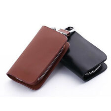 Top-Quality Cow Gorgeous Smooth Leather Car Key Holder KeyChain Case Bag Cover