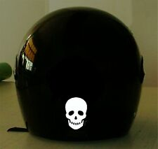 SKULL REFLECTIVE MOTORCYCLE HELMET DECAL.2 FOR 1 PRICE