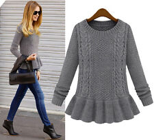 2014 autumn fashion vintage skirt twist o-neck sweater female pullover sweater