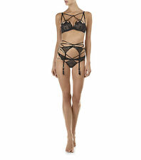 AGENT PROVOCATEUR JET BRA THONG OUVERT BRIEF SUSPENDER COLLECTION BNWT