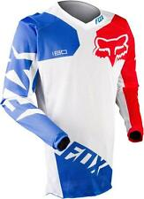2015 FOX RACING 180 RACE AIRLINE VENTED JERSEY WHITE MX HOT WEATHER XC 10788-008