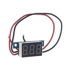 Mini 2Wires DC 3.3-30V LED Panel 3-Digital Display Voltmeter Voltage Meter Panel
