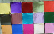500 x 80 mm x 80 mm Foil Square Wrappers for Chocolate and Sweets.18 Colours