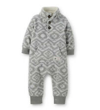Carters 3 6 9 12 18 24 Months Fleece Jumpsuit Baby Boy Coverall Clothes Gray