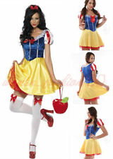 Halloween Snow White Princess Ladies Fancy Dress Costume Fairytale Outfit NEW