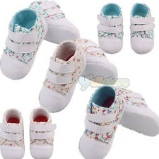 Cute Baby Toddler Shoe Floral Soft Cotton Sole Shoes Double Buckle
