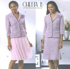 Misses Lined Jacket Fabric Flower A Line Skirt Sewing Pattern Faced Waist 4390