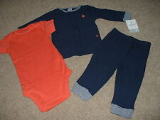 NEW Boys Carters First Captain 3pc Outfit Set Size Preemie Newborn 3 9 months