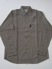 GREEN OLIVE BEIGE CHECK LONG SLEEVE SHIRT COLUMBIA FISHING OUTDOOR HIKE CAMPING