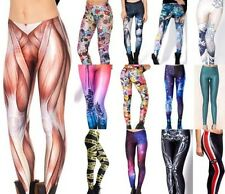 Sexy 3D Graphic Printed Women Leggings Tights Yoga Gym Dance Party Club BH BX02