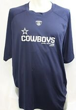 NEW Mens REEBOK Dallas COWBOYS PlayDry Navy Stretch Mesh T-shirt NFL Apparel