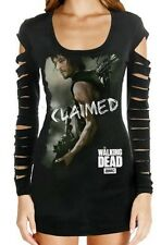 THE WALKING DEAD DARYL DIXON CLAIMED LASER CUT CROSS BOW L/S JUNIORS SHIRT S-2XL
