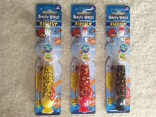 ANGRY BIRDS FIREFLY LIGHT UP TOOTHBRUSH 1 MINUTE TIMER NIP