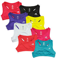 Adidas Youth Girl's Techfit Solid Color Athletic Sports Bra, Multiple Colors