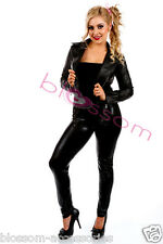 I97 Grease Sandy T Birds Black Womens Jacket Lady 50's Costume Frenchie Rizzo
