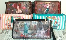 Nicole Lee Sunny Tina Doll House Or New York Wristlet Purse Insert Organizer nwt