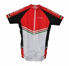 new De Marchi Pista men's cycling jersey lightweight fabric full zipper 2XL XXL