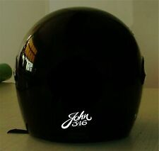 BIBLE PASSAGES REFLECTIVE MOTORCYCLE HELMET DECAL..2 FOR 1 PRICE