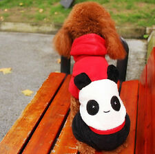Pet Dog Clothes Winter panda Cosplay Coat Sweater for small dogs Puppy