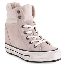 Converse Chuck Taylor All Star Platform Donna Grey Wedge Trainers nuovo Scarpe