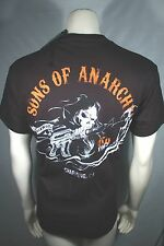 SONS OF ANARCHY SOA CHARGING REAPER 2 SIDED SICKLE SAMCRO ROCK T TEE SHIRT S-3XL