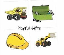 12 Construction Tattoos Dump Truck Tool Box Back Hoe Heavy Equipment Party