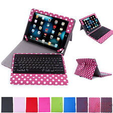 Bluetooth Faux Leather Case Cover Stand with Wireless Keyboard Apple iPad 4 3 2