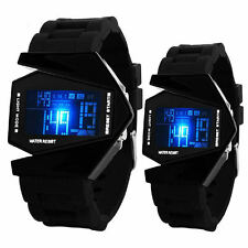 Mens Boys Girls Watches LED Light Digital Sports Quartz Silicone Wrist Watches