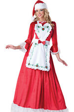 Mrs Santa Claus Dress Adult Holiday Christmas Costume