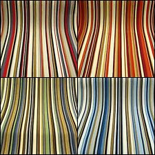 Joseph Striped Designer Curtain Upholstery Fabric £9.99 mtr - 4 Colours-137 cm