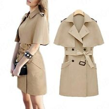 Autumn winter women's fashion Korean cape Trench coat jacket and long section