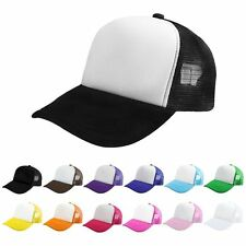 New Mesh Baseball Cap Trucker Hat Blank Curved Visor Hat Adjustable Blank Color